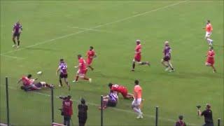Ioseb Kikvadze skilfully done kick pass to keep ball in play
