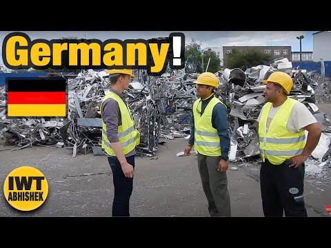 Non ferrous metal scrap recycling plant at Hamburg Germany