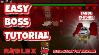 NEW BOSS FABBI - EASY TUTORIAL - FABBI PLUSHIE - Build a Boat for Treasure - Roblox
