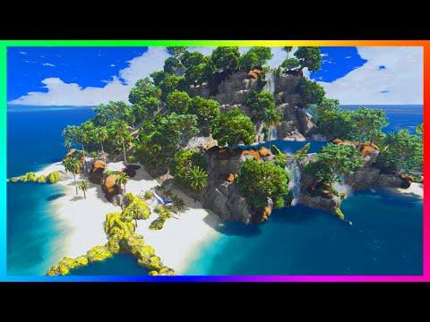 EXPLORING SECRET TREASURE ISLANDS W/ CRASHED YACHTS, HUGE MANSIONS, ZOMBIES & MORE! (GTA V MODS)