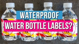 Waterproof Water Bottle Labels: Which Way is Best?