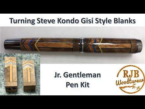 Turning Steve Kondo Gisi Style Pen Blanks