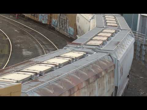 Union Pacific Freight Train going under N Tillamook St. in Portland, Oregon (08-21-2017)