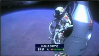 Felix Jumps At 128k feet! Red Bull Stratos - freefall from the edge of space Full coverage