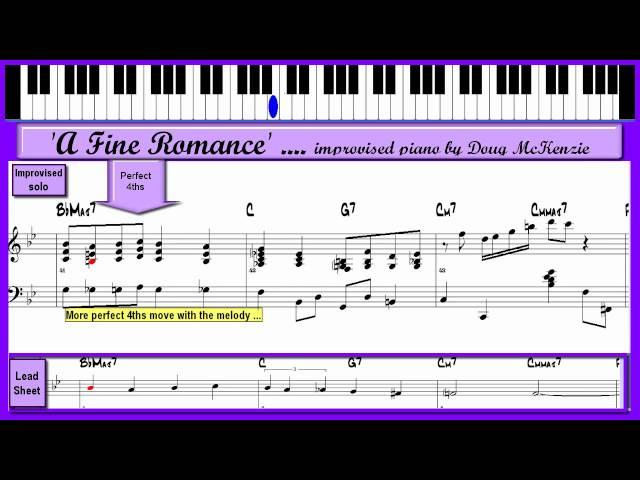A Fine Romance - Jazz piano tutorial