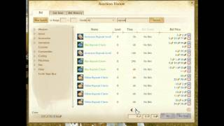 Archeage how to use the auction house and make money trade broker