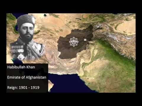 Afghanistan maps since ahmad shah durrani af15001500