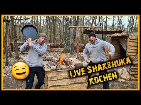 Kochen im Waldcamp - Shakshuka - Outdoor Bushcraft Deutschland