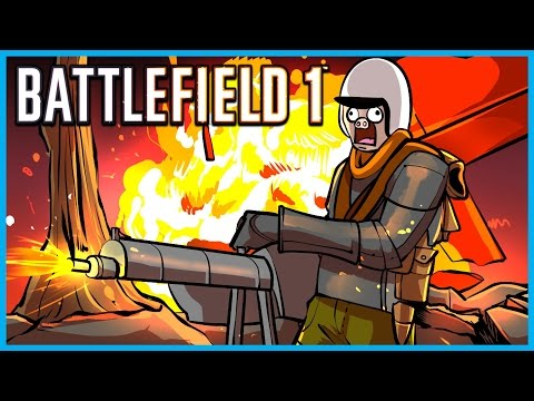 Thumbnail: Battlefield 1 Funny Moments! - Horse Collateral, Flamethrower, Chuck Norris, and Funny Fails!