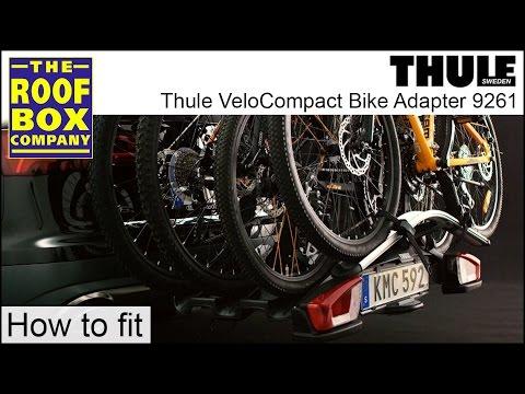 thule velocompact towbar bike rack 4th bike adapter 9261. Black Bedroom Furniture Sets. Home Design Ideas