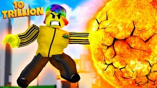 USING 10 TRILLION POWER TO DESTROY THE SUN (Roblox Super Power Training Simulator)