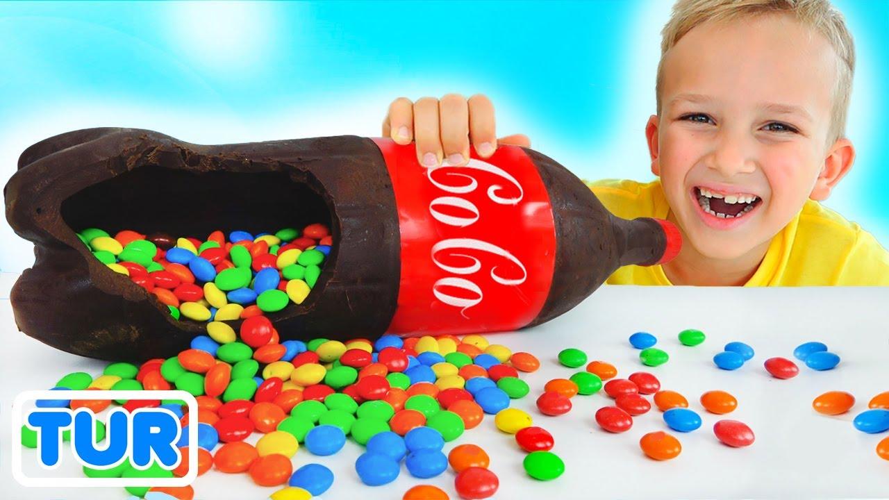 Download Vlad ve Niki Çikolata ve Soda Mücadelesi ve çocuklar için daha eğlenceli hikayeler
