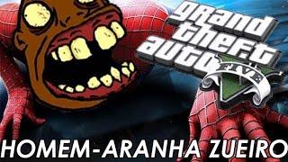 GTA V PC - HOMEM ARANHA MAIS HUE BR! SPIDER-MAN JOGA MINECRAFT? (MOD)