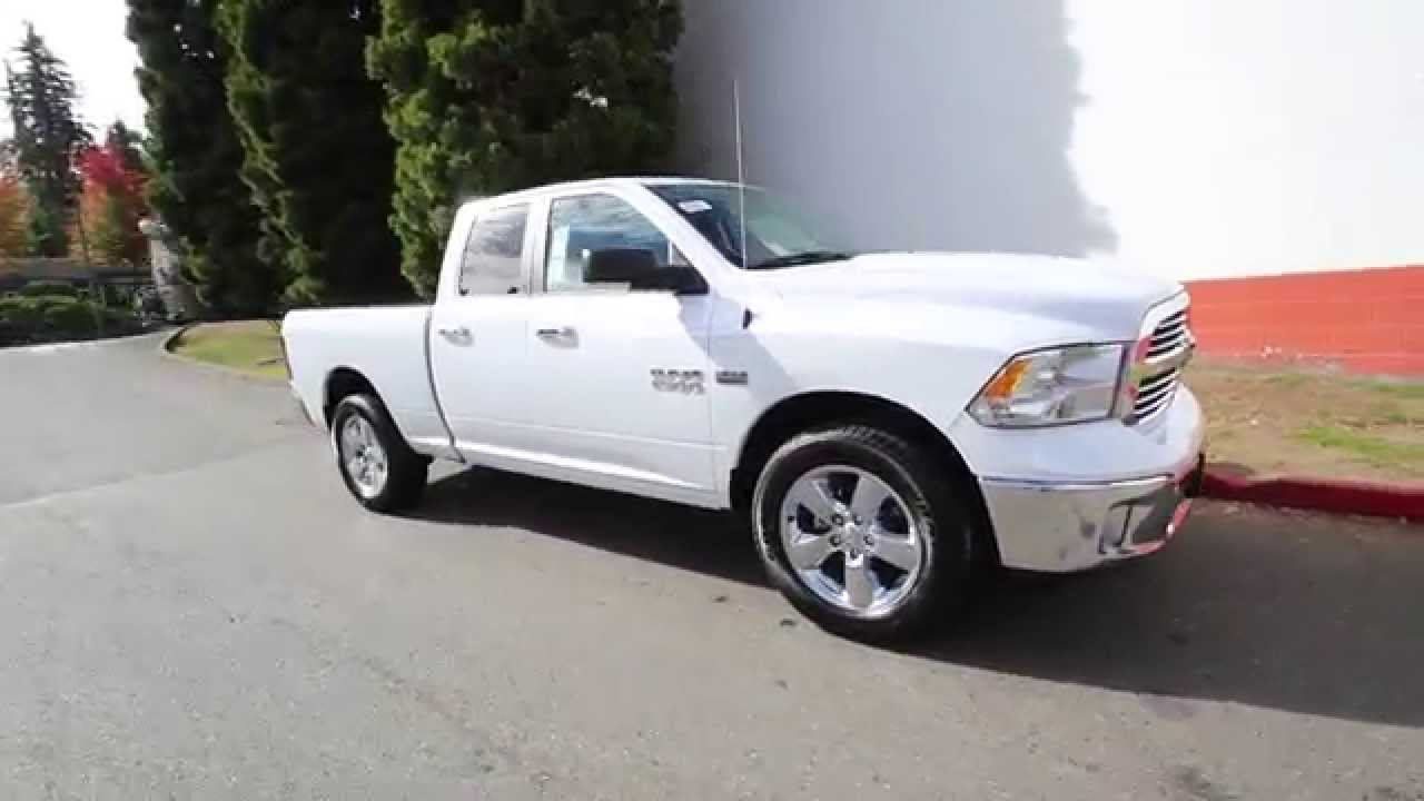 2016 dodge ram 1500 big horn white gs117949 redmond seattle youtube. Black Bedroom Furniture Sets. Home Design Ideas