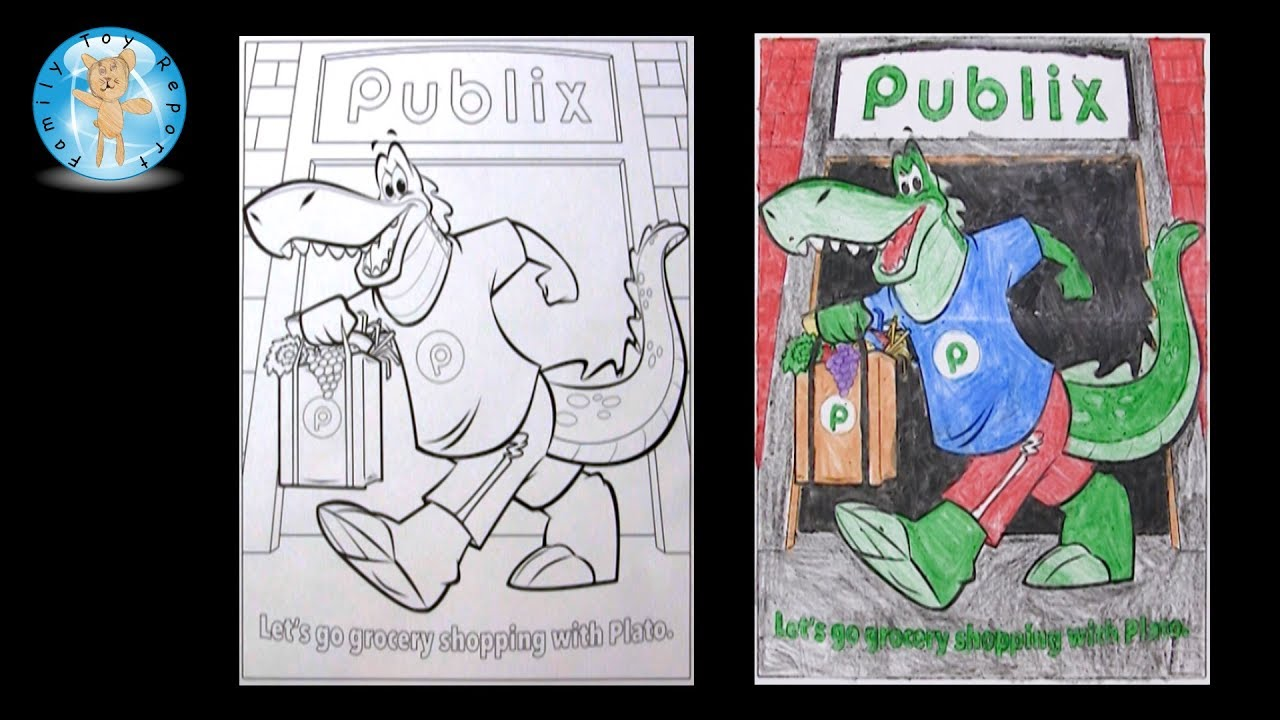 Publix Plato the Publixaurus Coloring Page Crayola Crayons -- Family ...