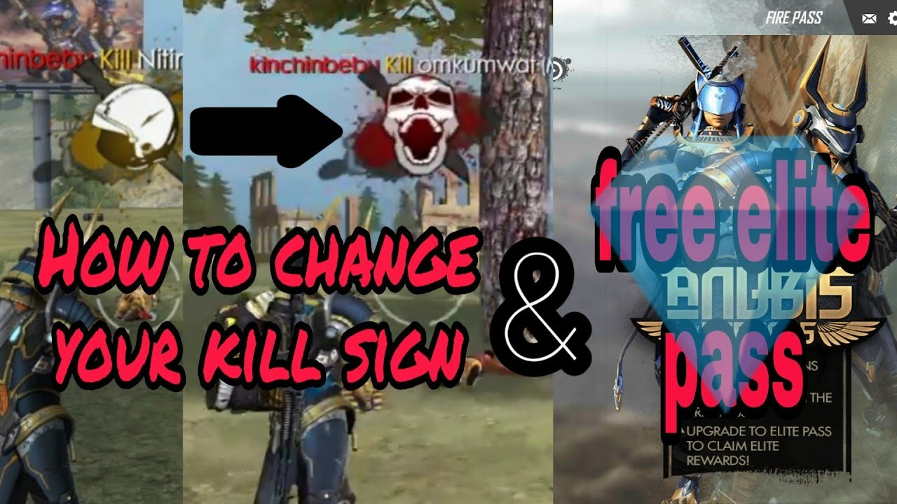Freefire How To Get Free Diamonds And Elite Pass And Change Your Kill Icon