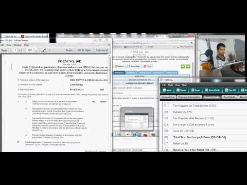 How to fill Form 10 E in Tax Site for tax relief for salary arrears?(Hindi)