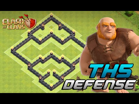 Clash Of Clans - DEFENSE STRATEGY - Townhall Level 5 Trophy Base Layout (TH5) 2016!!