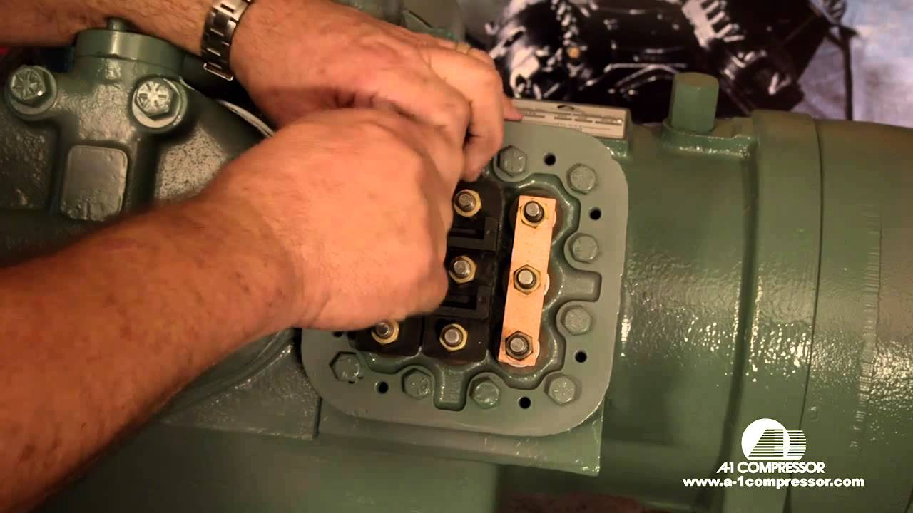 How To Wire A Carrier 06e 208 230 Volt 3 Phase Compressor Youtube Wiring