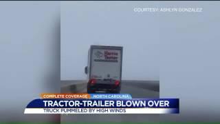 Video WATCH: Semi blown over in high winds on NC bridge download MP3, 3GP, MP4, WEBM, AVI, FLV Agustus 2018