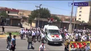 Cizre'de PKK'lı Cenazesinde Esnaf Kepenk Kapattı