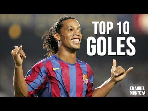 Ronaldinho l Top 10 Goles FC Barcelona HD
