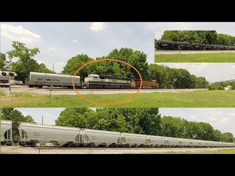 Executive Sd70mac Odd Ns Train Symbol Strings Of New Cars Youtube
