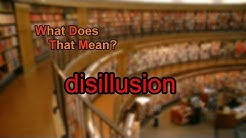 What does disillusion mean?
