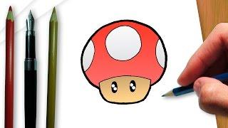 Cómo dibujar un hongo de Mario Bros