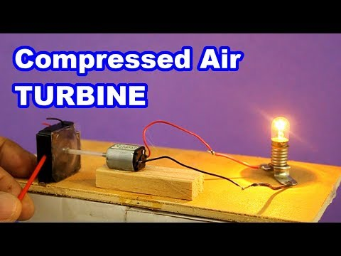 DIY Compressed Air Turbine Electric Generator