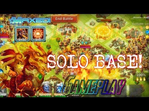 Scorch Lavanica Solo Base Gameplay! Insane! Castle Clash