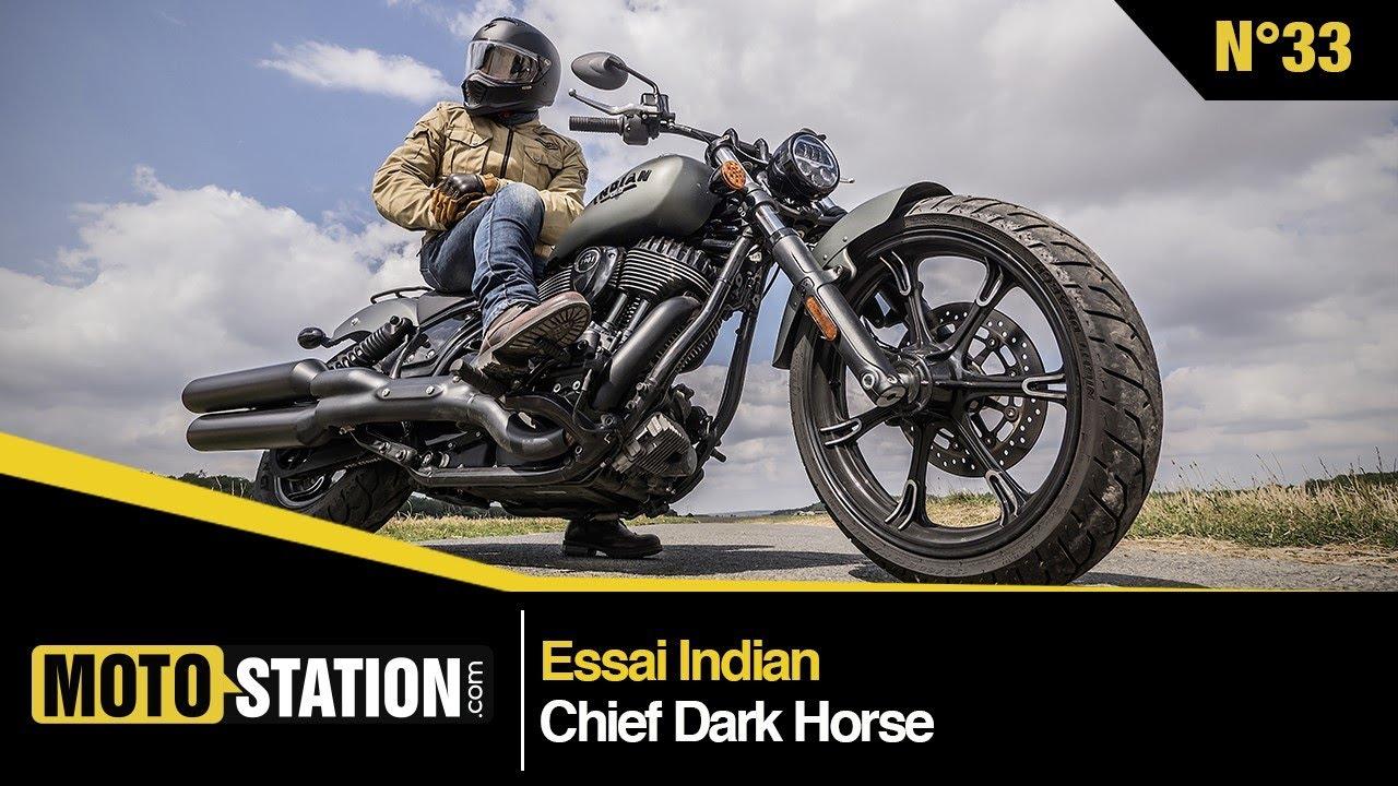 Download Essai Indian Chief Dark Horse : cruiser US très européen