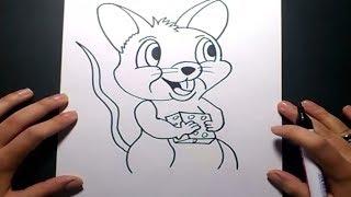 Como dibujar un raton paso a paso 4 | How to draw a mouse 4