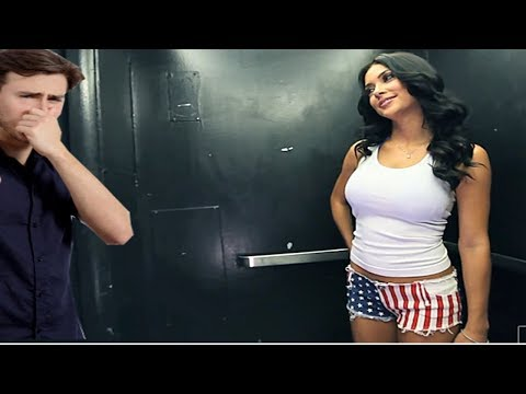 Hot Girl Fart In Elevator Prank