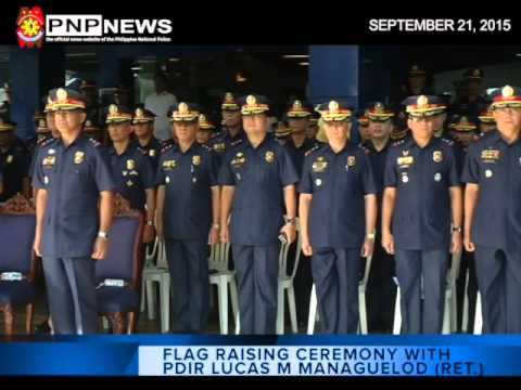 FLAG RAISING WITH PDIR MANAGUELOD RET  (Sept  21 2015)
