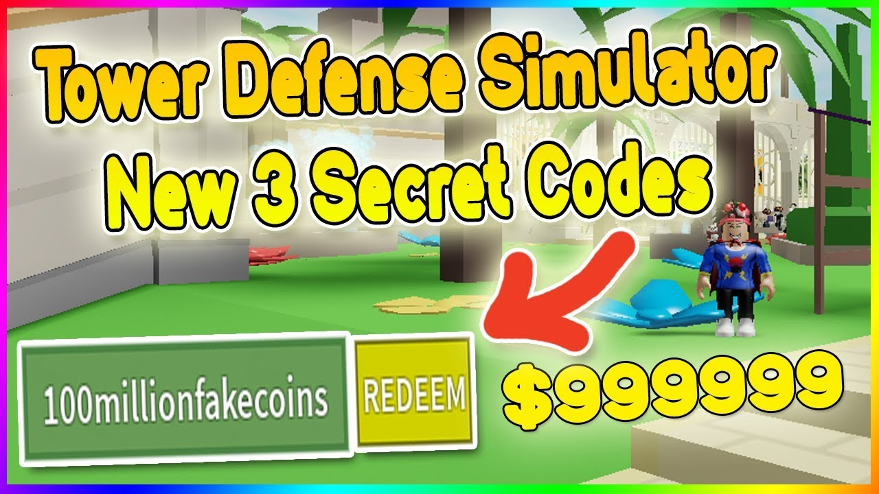 3 New Codes Tower Defense Simulator Codes Roblox Youtube
