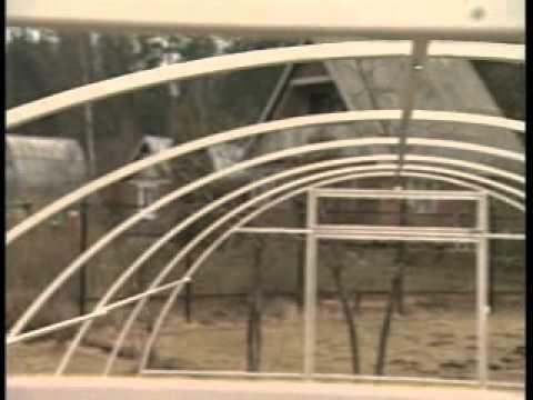 Установка теплицы из сотового поликарбоната Кронос - YouTube