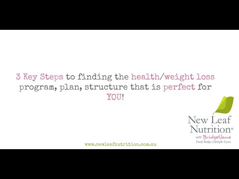 3 Key Steps to finding the health/weight loss program, plan, structure that is perfect for YOU!