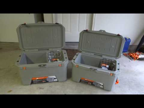 Ozark Trail 73 qt and 52 qt High Performance Cooler Review Unboxing