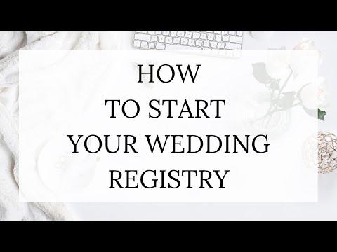 How to Start Your Wedding Registry