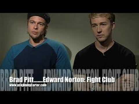 Brad Pitt and Edward Norton: The Fight Club