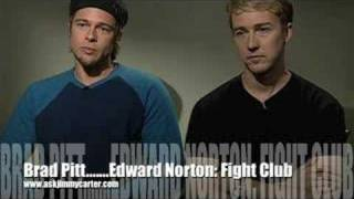 Fight Club: Brad Pitt and Edward Norton TALK about Fight Club...an interview Poster