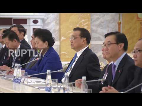Russia: Medvedev and Chinese Premier Li Keqiang lead trade talks in St. Petersburg
