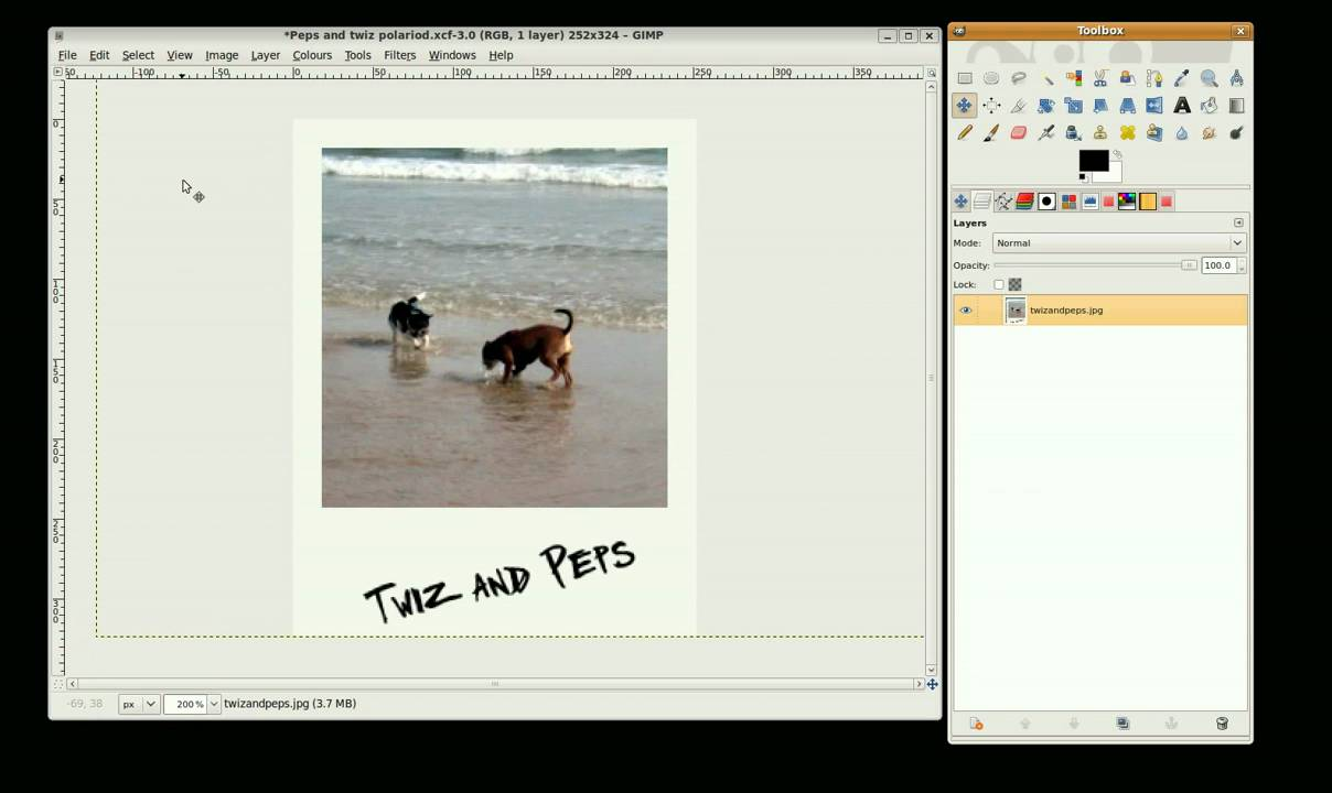 Extrêmement Gimp Tutorial - polaroid photo - YouTube RD79
