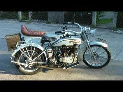 Harley 1917 with sidecar 4 sale - YouTube