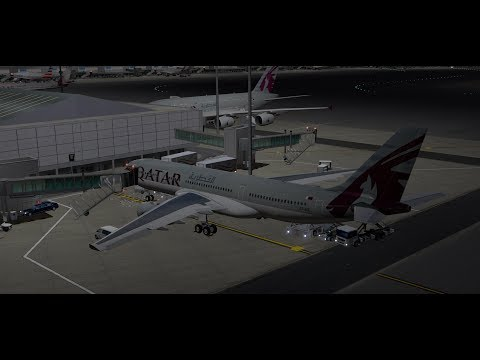 Qatari A330 From Doha to Dubai