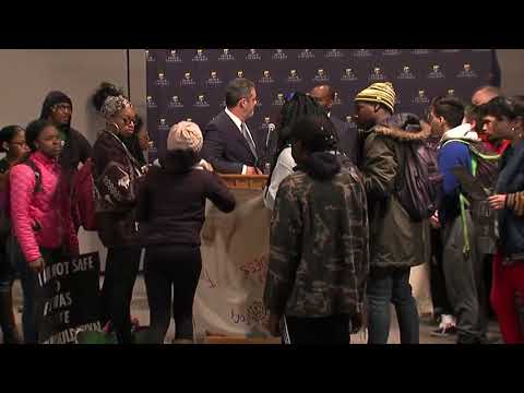 Protesters interrupt DePauw press conference