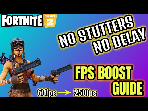 REDUCE INPUT DELAY FIX STUTTERS And BOOST FPS IN FORTNITE
