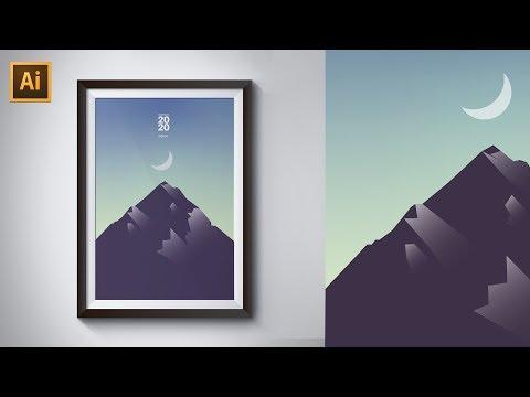 Make A STUNNING Vector Mountain In 5 Minutes *Illustrator Tutorial*