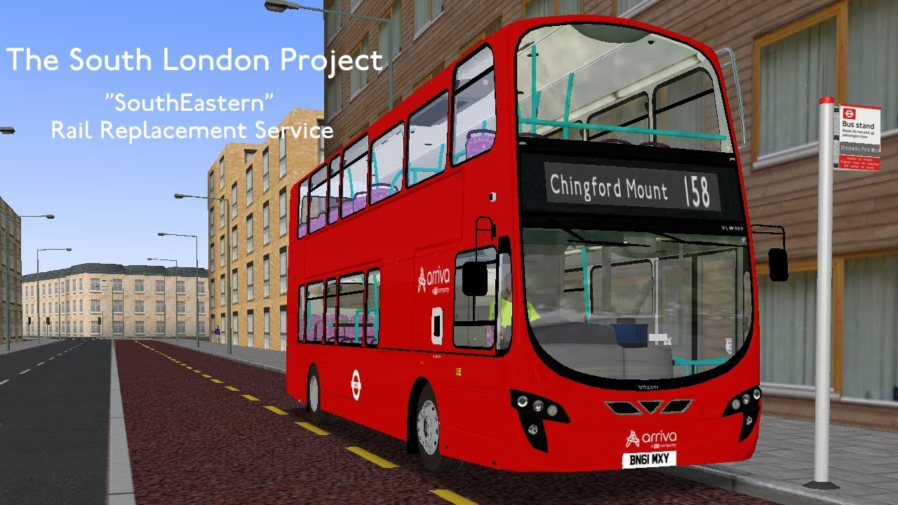 OMSI 2 | South London Project - Rail Replacement Service | Volvo B9TL  Gemini 2 (Arriva VLW Repaint)